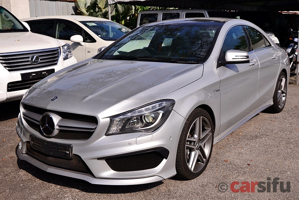 Mb Cla45 Amg Sport Pack Coupe High 40006 Polar Silver Black Dinamica 13 Mjt  02 View