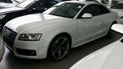 2010 audi a5 coupe 2.0 tfsi sline quattro white.b o sound sys.mmi.mf steering.paddle shift.parking sensor.18rims.215k  1  thumb