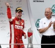 Najib congratulating Vettel after he won the Formula 1 Malaysian Grand Prix in Sepang today.