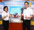 Seow (left) and Lim promoting the Shell Rimula campaign.