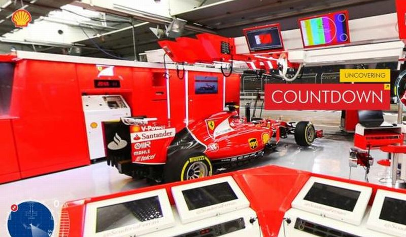 shell offers virtual peek into ferrari ops carsifu