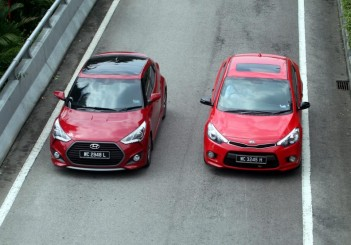 Hyundai Veloster Turbo and Kia Cerato Koup - 01