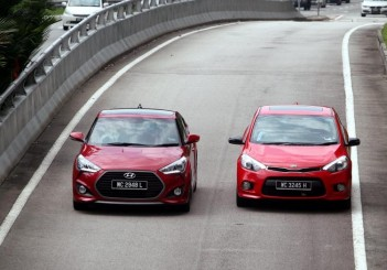 Hyundai Veloster Turbo and Kia Cerato Koup - 02