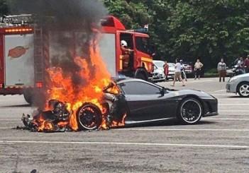 Burning Ferrari