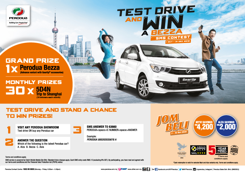 Test Drive  Win SMS Contest