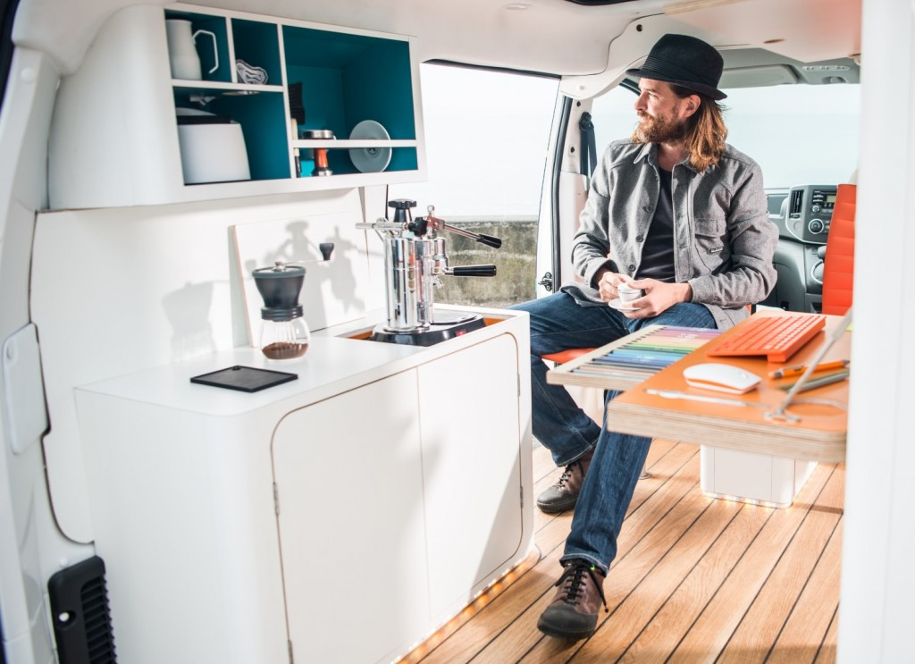 The future of working: Nissan e-NV200 WORKSPACe is the world's first all-electric mobile office