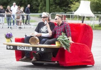 Edd China and Rick Jackson ride on Casual Loafer at Beaulieu 1
