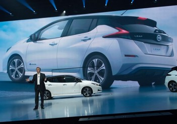 The new Nissan LEAF reveal in Japan